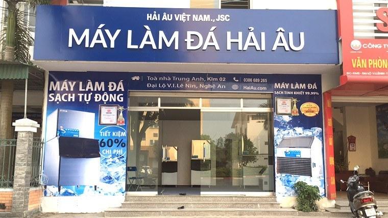 Khai trương showroom máy làm đá Hải Âu tại Vinh