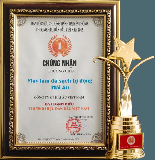 Máy làm đá Hải Âu thuộc top 100 thương hiệu Việt Nam