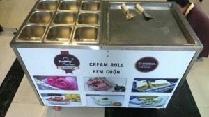 Máy làm kem cuộn