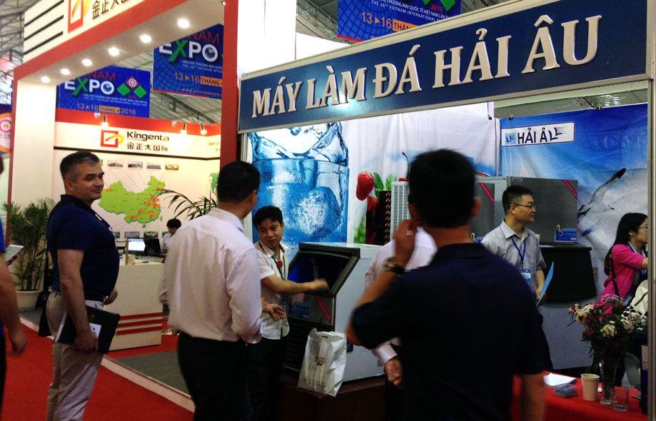 máy làm đá hải âu tham gia triển lãm thương mại quốc tế