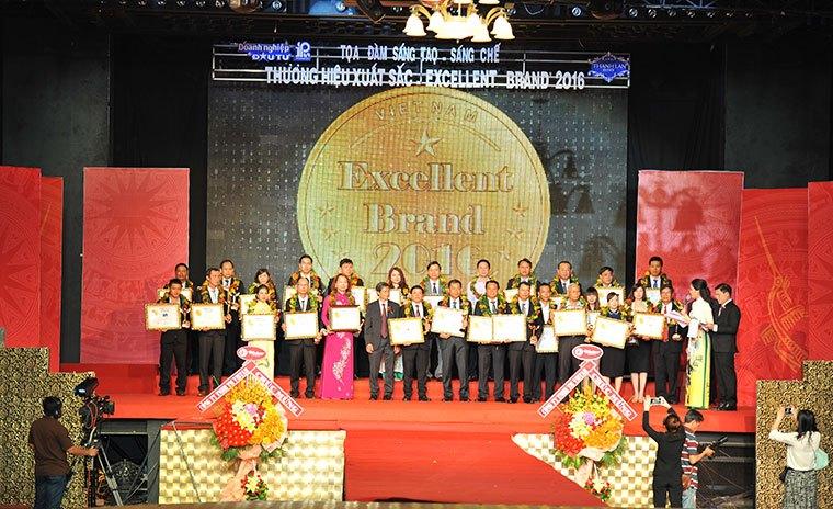 lễ trao giải thương hiệu xuất sắc 2016