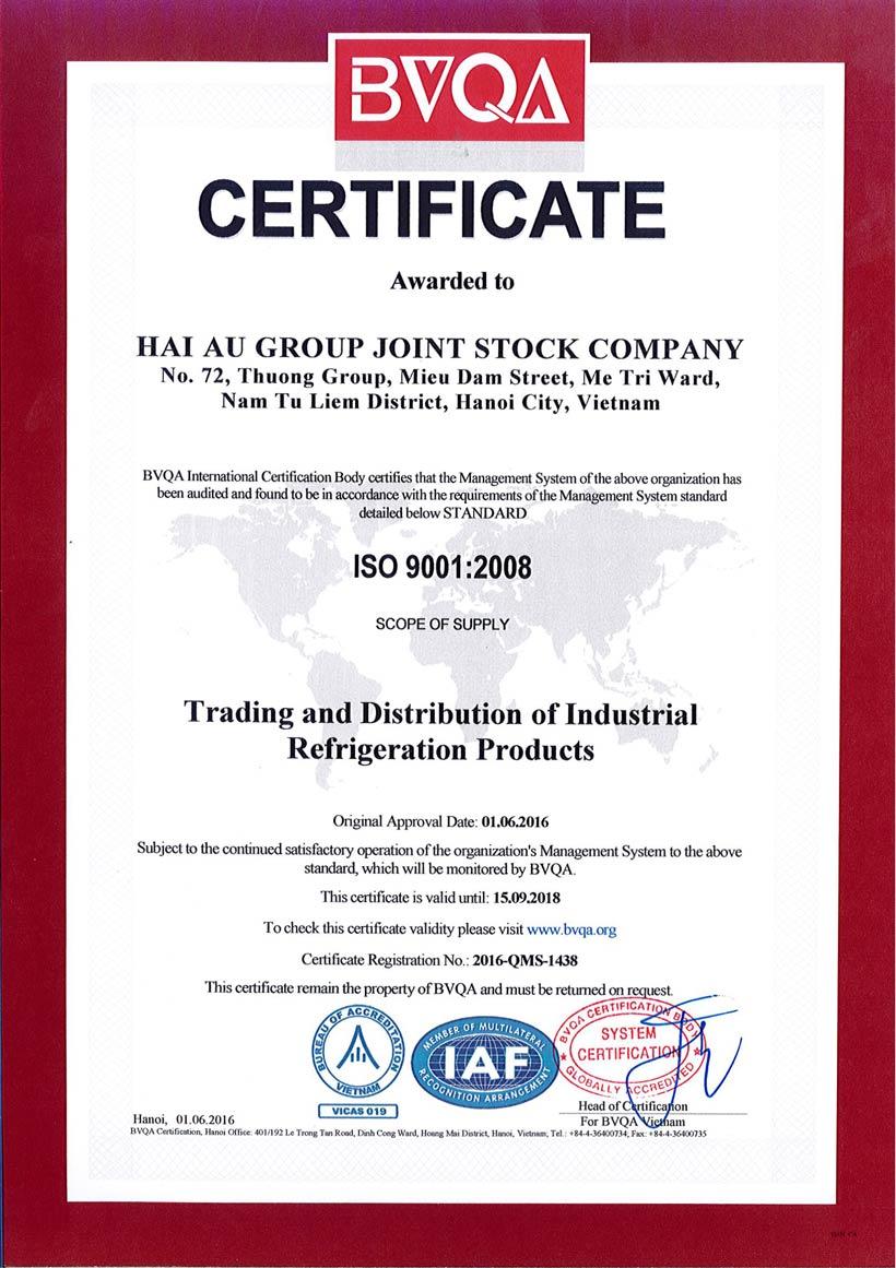 Hai Au Group đạt chứng nhận ISO 9001