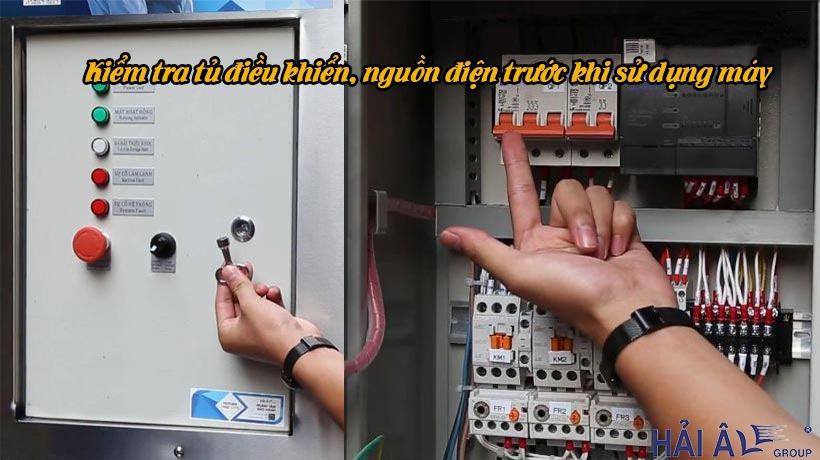 Kiểm tra máy trước khi dùng